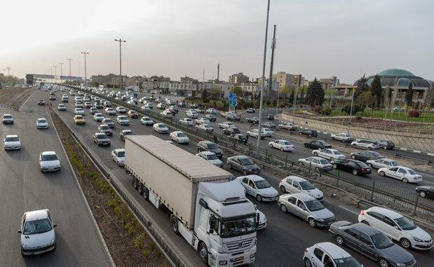 ترافیک پرحجم در محدوده ورودی پایتخت