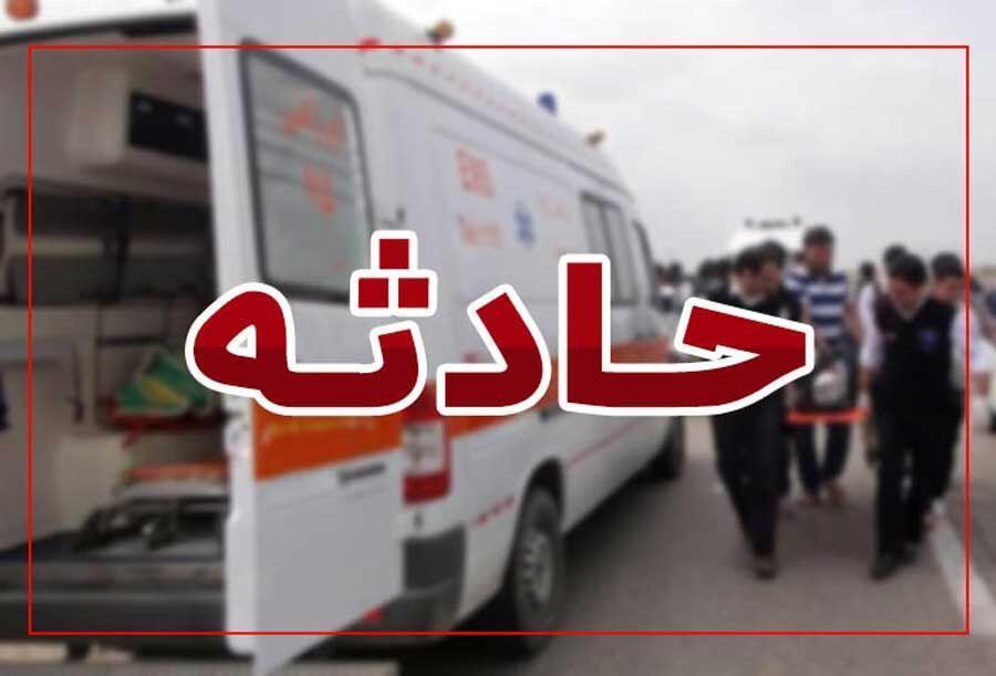 خبرنگاران واژگونی اتوبوس در آزاد راه کرج - قزوین
